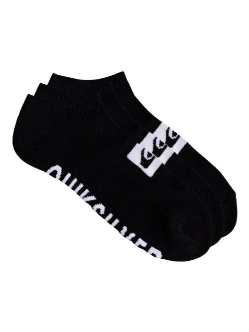QUIKSILVER MENS SOCKS.NEW 3 PACK TRAINER ANKLE SPORTS BLACK UK 6 - 11 8W 667 KVJ